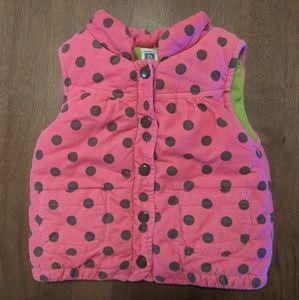 Carter's Hot Pink Sleeveless Winter Vest
